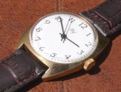 Механические часы Свет СССР позолота AU10. Оригинал