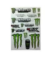 Наклейки на пластик мотоцикла «Monster» 3M 40*28 см