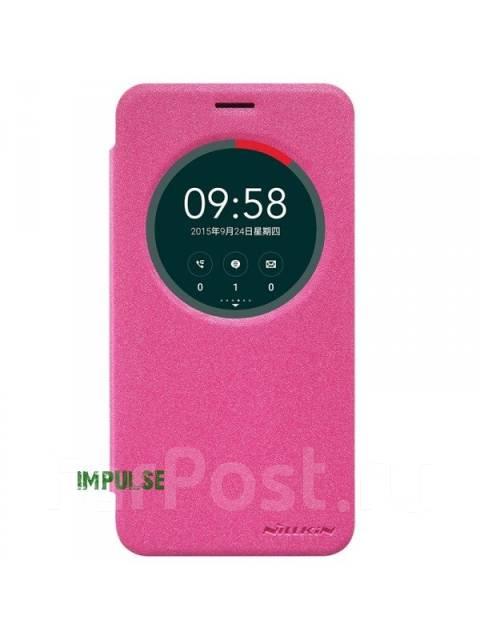 Чехол-книга для ASUS Zenfone 2 Laser ZE500KL Nillkin Sparkle Leather Case Розовый