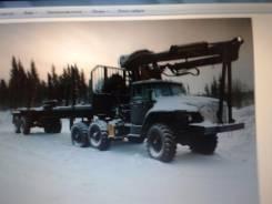 Урал 4320. Седельный тягач с гидроманипулятором, 14 860 куб. см., 15 865 кг.