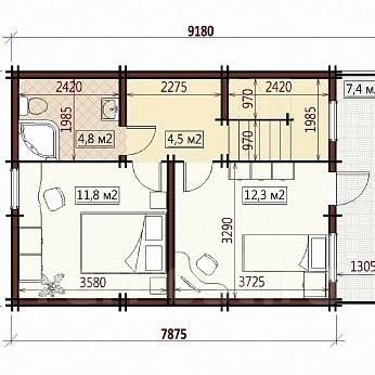 Дом с внут/внеш отделкой! За 860 тыс/руб Доступен в кредит