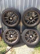 Срочно продам колеса work emotion cr-forged с резиной. 9.5x17 5x114.30 ET12 ЦО 72,0мм.