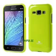 Силиконовый чехол Mercury Goospery для Samsung Galaxy J1 Зеленый