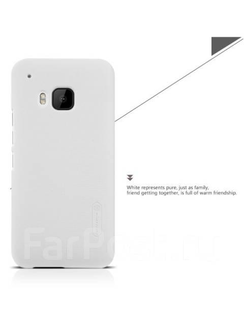 Чехол-накладка для HTC One M9 Nillkin Super Frosted Shield Белый