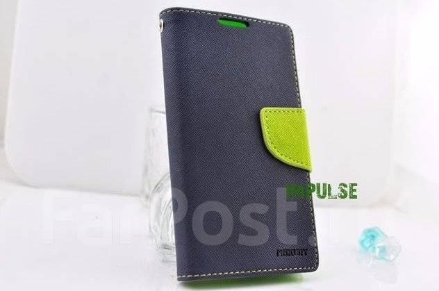 Чехол-книга для HTC Desire 728G Mercury Fancy Diary Cover Темно-синий