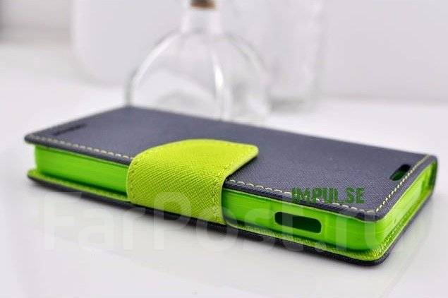 Чехол-книга для HTC Desire 728G Mercury Fancy Diary Cover Темно-синий