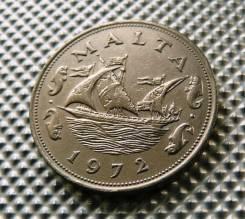 *480, Мальта 10 центов 1972, (Корабли, парусники, флот)