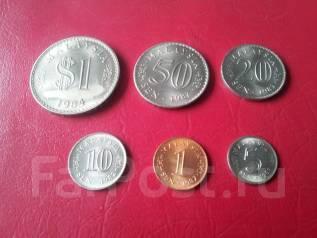 6 монет Малайзии, включая огромный ринггит 1984 года! Без повторов.