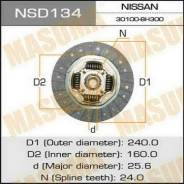 Диск сцепления. Nissan: Silvia, Pulsar, 200SX, Skyline, 180SX, Bluebird, Maxima Двигатели: SR20DET, SR20DE, RB25DE, VQ30DE
