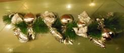 Новогодняя Гирлянда 1м искуственная ель с игрушками 2 цвета