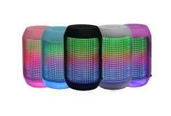 Мини-колонка AIBIMY с поддержкой micro sd и пульсирующим в такт музыки светом, фиолетовый
