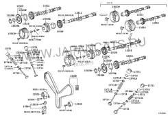Натяжной ролик ремня ГРМ. Lexus: GS300, GS430, GX470, SC430, SC400, LS400, LX470, LS430, GS400, GS460, GS350, SC300 Toyota: Crown, Aristo, GS300, Tund...