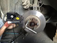 Проточка тормозных дисков, замена колодок.