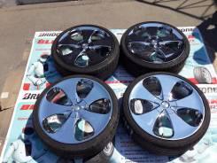 Дикий сияющий хром Bridgestone R19 4/5x114,3 + шины бонусом. 7.5x19 4x114.30, 5x114.30 ET53