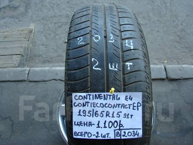 Continental ContiEcoContactEP. Летние, износ: 30%, 2 шт