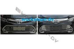 Накладка на решетку бампера. Toyota Camry