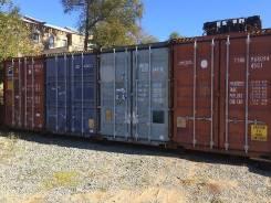 Аренда 40-ка футовых контейнеров под склад на охраняемой территории. 30 кв.м., улица Снеговая 35, р-н Снеговая. Дом снаружи