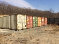 Аренда 40-ка футовых контейнеров под склад на охраняемой территории. 30 кв.м., улица Снеговая 91а, р-н Снеговая. Дом снаружи