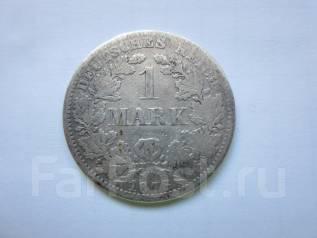 "Германия 1 марка 1876 года. Отметка монетного двора: ""A"" - Берлин."