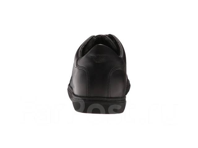 ee01c2ee4521 Брендовые Итальянские Кожаные Кеды Armani Jeans Leather Low-Top ...