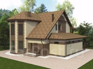 Архитектурный проект дома из Теплоблока. 200-300 кв. м., 2 этажа, 5 комнат, бетон
