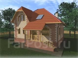 Архитектурный проект дома из Теплоблока. 100-200 кв. м., 2 этажа, 5 комнат