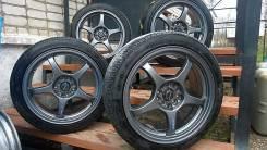 A-Tech Schneider + Dunlop Veuro VE303. 7.5x17 5x100.00, 5x114.30 ET50