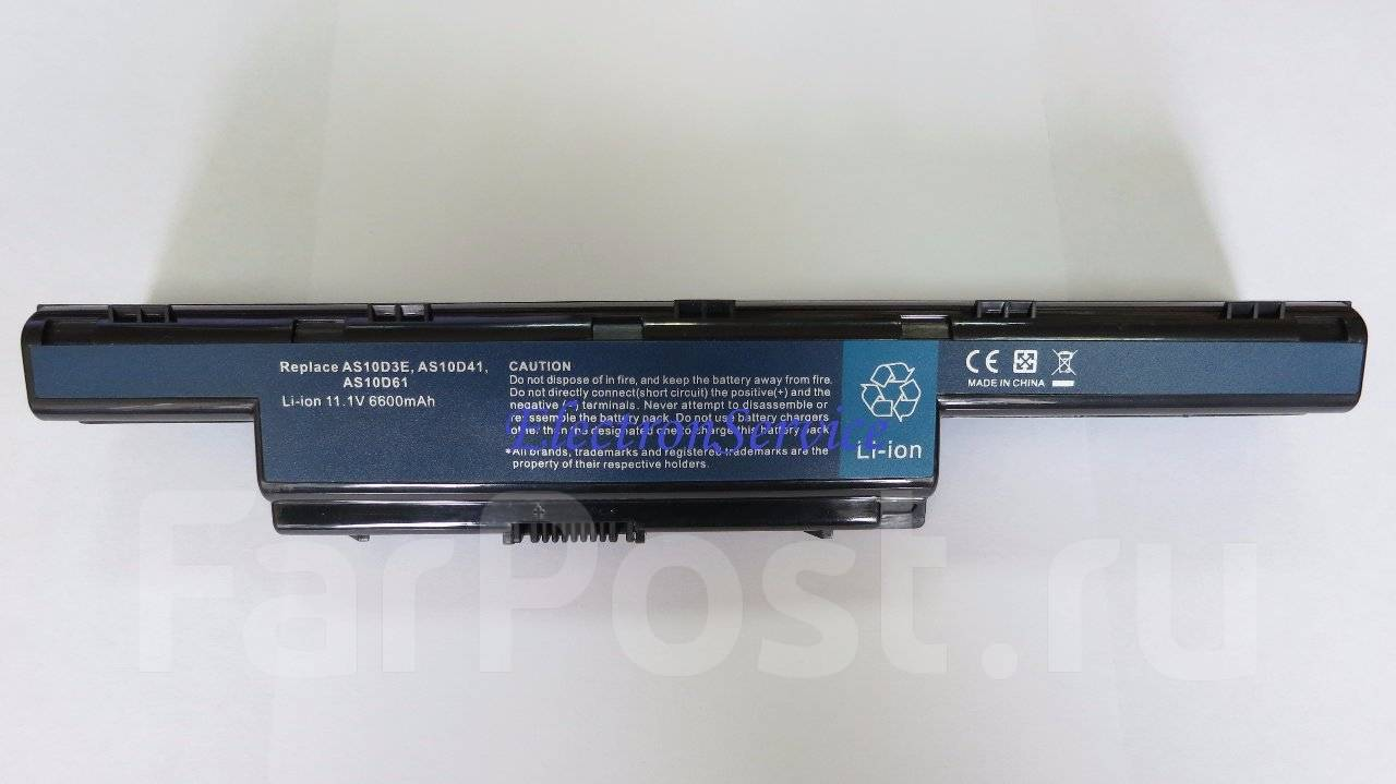 Батарея ноутбука ACER AS10D81 Купить аккумулятор для