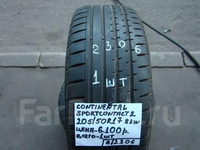 Continental ContiSportContact 2. Летние, износ: 5%, 1 шт