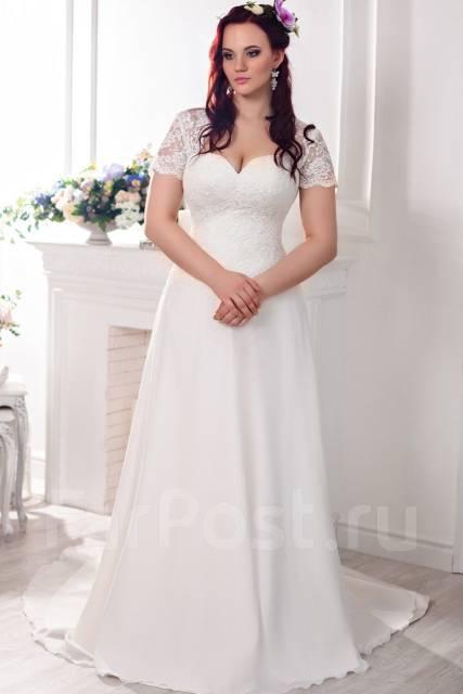 Свадебное платье 48 размера недорого