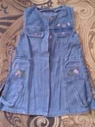 Платья джинсовые. Рост: 86-98, 98-104, 104-110, 110-116 см