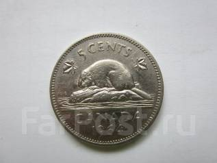 Канада 5 центов 1964 года.