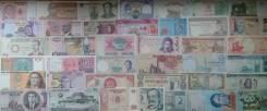 Иностранные банкноты 115 штук без повторов