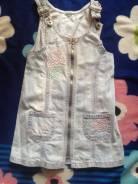 Сарафаны джинсовые. Рост: 104-110, 110-116 см