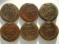 5 копеек 1789-1794 г. АМ