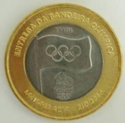 1 реал Бразилии, олимпийский флаг