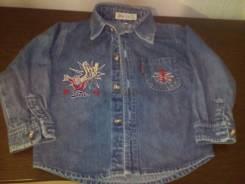 Рубашки джинсовые. Рост: 80-86, 86-98, 98-104 см