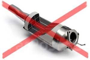 Удаление систем очистки выхлопных газов.