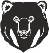 Наклейка. Медведь. Под заказ