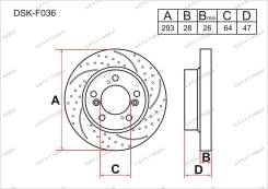 Диск тормозной. Honda CR-V, DBA-RE4, DBA-RE3 Honda CR-V I-CTDI Двигатель N22A2