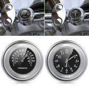 Часы и термометр на руль мотоцикла