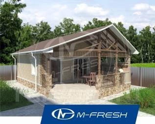 M-fresh Sigma-зеркальный (Баня с террасой и комнатой отдыха! ). до 100 кв. м., 1 этаж, 1 комната, бетон