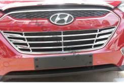 Накладка на решетку бампера. Hyundai ix35