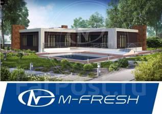 M-fresh Harley Dav!dson Mini-зеркальный (Проект современного дома! ). 200-300 кв. м., 1 этаж, 7 комнат, дерево