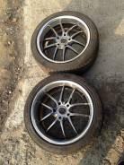 Два колеса Work Meister S2R с резиной. 8.0x45 5x114.30 ET35