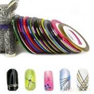 Лента-наклейка для украшения ногтей