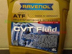Жидкость вариатора Ravenol CVT fluid 4 Литра. полусинтетическое