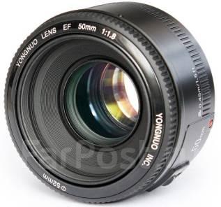 Объектив YN EF 50mm f/1.8 AF для Canon. Для Canon, диаметр фильтра 52 мм. Под заказ