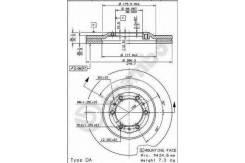 Тормозной диск OPEL FRONTERA 95- MONTEREY 91-99 ISUZU TROOPER 91- Brembo 09.6866.20