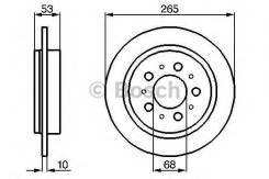 Тормозной диск задний VOLVO 740 760 780 940 960 Bosch 0986478042
